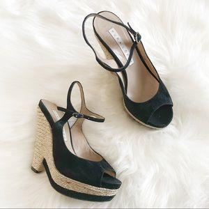 Pura Lopez Espadrille Wedge Heel Sandals